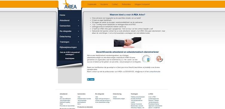 Voorbeeld eigen site A-REA