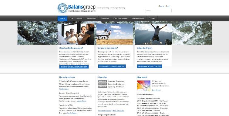 Voorbeeld eigen site Balansgroep